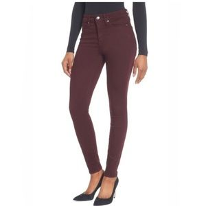 Good American good legs burgundy jeans